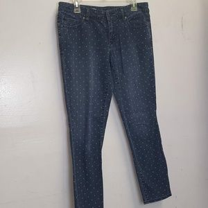 gap always skinny polka dot jeans